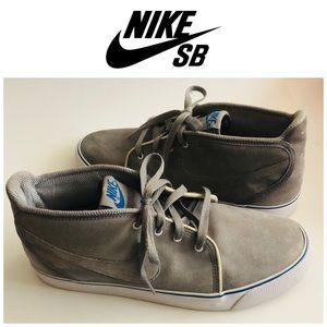 Nike SB Gray Suede Midtop Sz 10.5